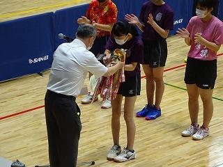県総体卓球個人シングルス男女優勝