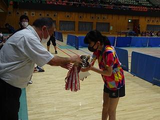 宇河地区卓球大会シングルス男女優勝